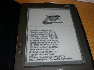 otas de la versión, con el firmware actualizado